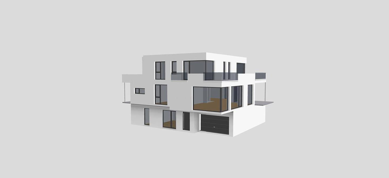 ARKITURA Projekte im Bau - Einfamilienhaus Bergstrasse mit ca 380qm