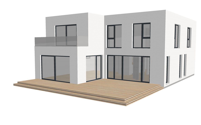 ARKITURA Projekte im Bau - Einfamilienhaus im Raum Hanau mit ca 210qm