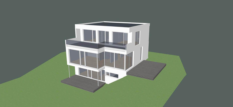 ARKITURA Projekte im Bau - Einfamilienhaus im Taunusgebirge mit Fernsicht mit ca 250qm