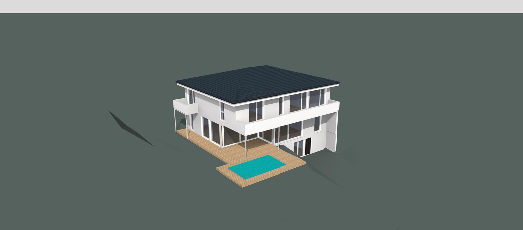 ARKITURA Projekte im Bau - Einfamilienhaus im Raum Wiesbaden Energieeffizienz 40Plus mit 350 qm