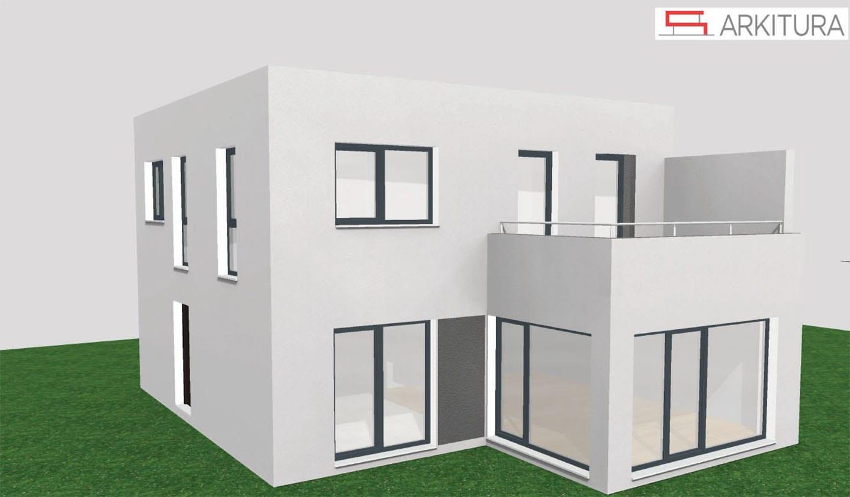 ARKITURA unser Wohnbauprojekt in Illertissen - 3D Visualisierung Doppelhaus 134
