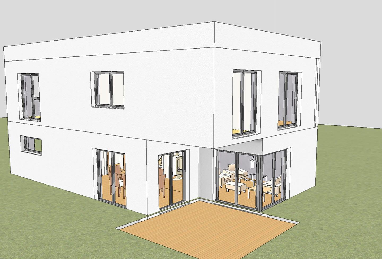 ARKITURA unser Wohnbauprojekt in Illertissen - 3D Visualisierung Doppelhaus 150